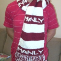 Finished Objects Friday - Manly Sea Eagles Scarf